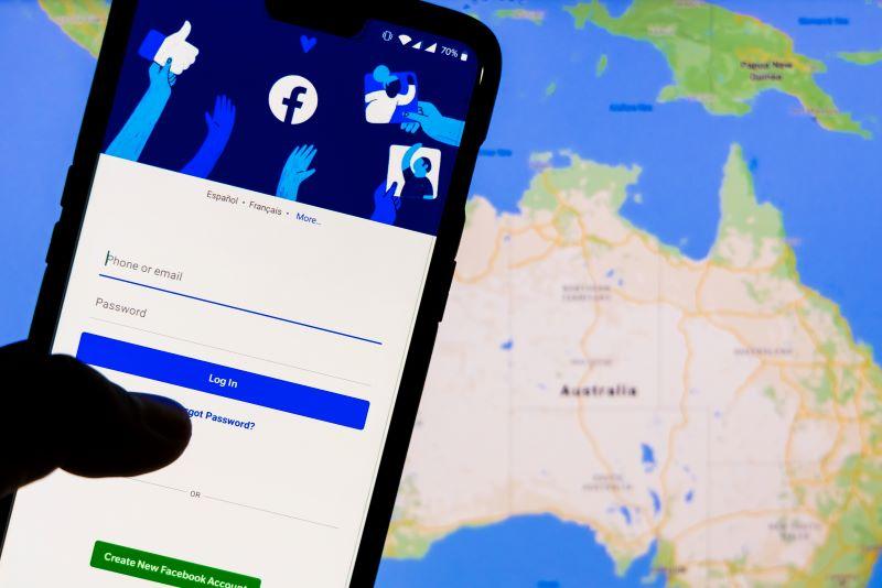 Facebook news ban Australia