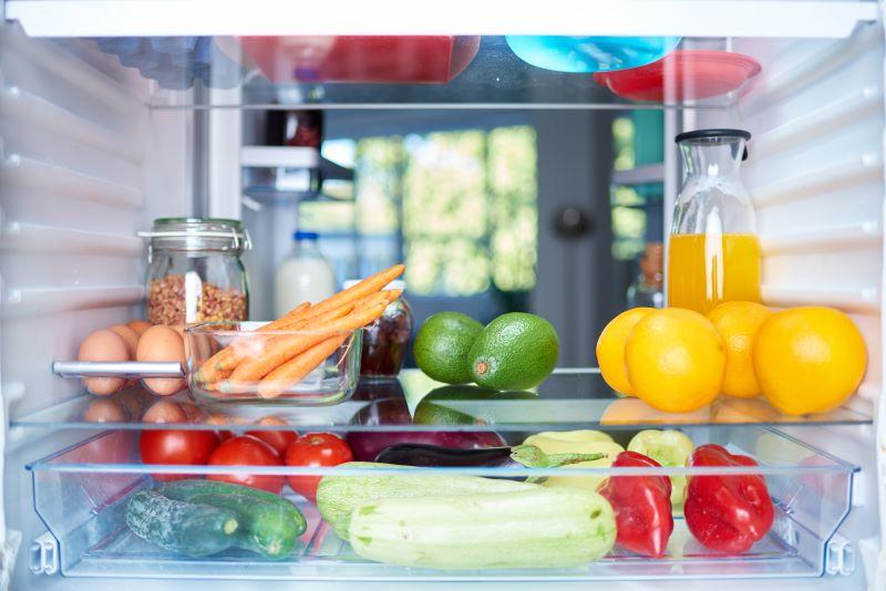 fridge full of fresh food